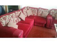 Cloth corner sofa 4 3 and 1 seater full set