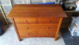 4 draw chest of draws solid wood storage bed chest cupboard can deliver £50 ono