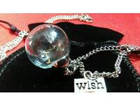 Fairy wish necklace with pouch
