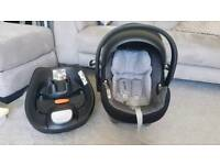 Cybex Aton Q Baby Car Seat and ISOFIX base Group 0+