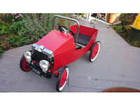 Vintage Pedal Car in Red for 3 to 5 Year Old - As New/Unused - First to See Will Buy!
