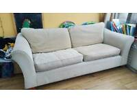 3 seater beige sofa M&S