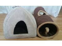 Cat Igloo bed and Cat Tunnel brand new