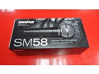 Shure SM58 Vocal Microphone Brand New Unused £88