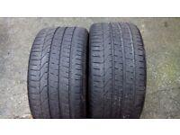 285 35 18 Pirelli P Zero tyres x2 , 5mm tread