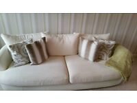 Stunning 4 seater sofa and swivel cuddle chair for sale