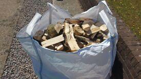 Hardwood firepit firewood bundle
