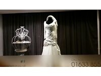 Exclusive Hand Made Ivory Fishtail Designer wedding dress with lots of beading and diamante detail