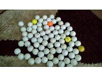 81 golf balls all makes and 51 practice balls srixon