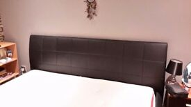 SUPER king size black leather bed and super king size matress