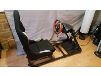 Gameing chair and xbox one wheel and pedals