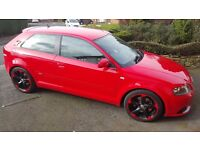 AUDI A3 S-LINE RE-MAPPED 250BHP, FULL SERVICE HISTORY