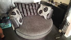 4 seater sofa and cuddle chair from dfs