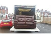 Very nice electric reclining 2 seater sofa in brown leather,was £1000 new,we need £199!
