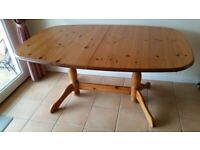 DINING TABLE, solid pine wood, extendable
