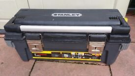 "Stanley tool box used but very good condition Size 26""can deliver or post!"