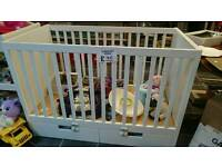 GONE PENDING COLLECTION Ikea adjustable cot and junior bed with drawers
