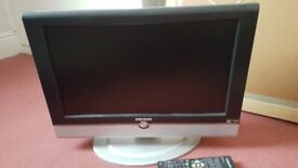 DM Tech TV PC Monitor. Remote control. Freeview. CD player. Collect today cheap