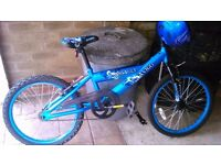 BMX 20 inch bike with helmet