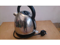 Big Black and Silver Metal Kettle (1.8L)