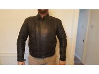 Buffalo Biker Leather Jacket Classics Bike Size L