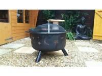 Large garden moon and stars fire pit log burner