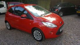 2013 (13) Ford KA 1.2 Zetec 3 Door One Lady Owner From New Full Ford Main Dealer Service History Red