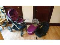 Babystyle Oyster Max travel system plum