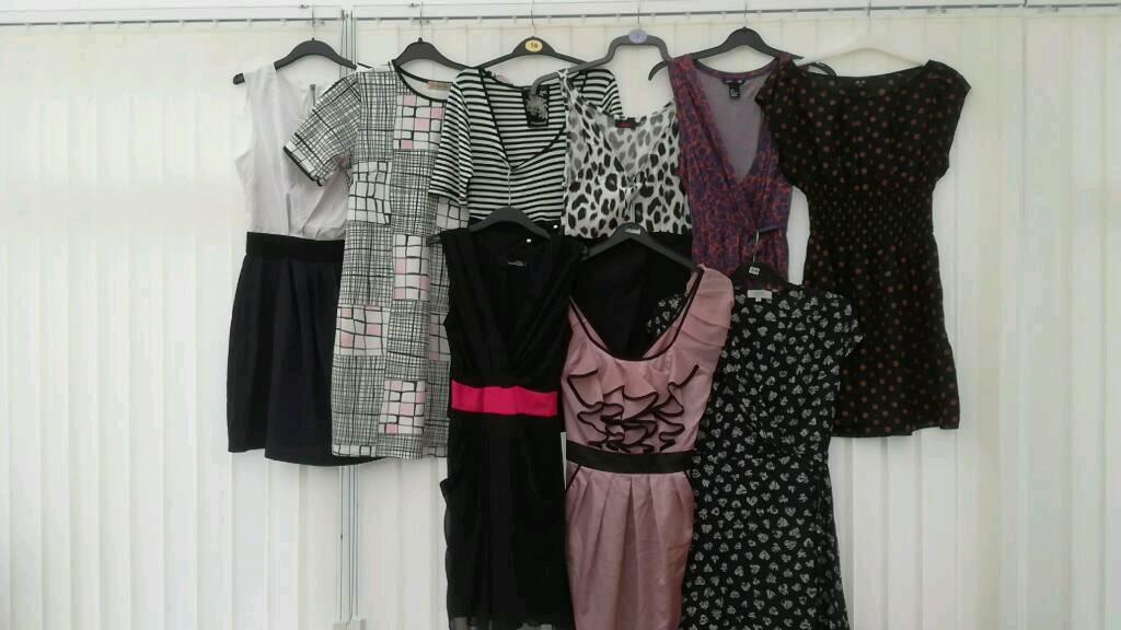 Ladies dresses x 9 (size 8)