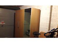 Ikea oak veneer wardrobe - three doors