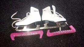 Ice skates by freesport size 13 white