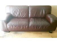 For Sale 2 Leather 3 Seater Sofas