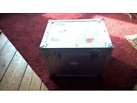 Silver Flight Case with Foam Lining, Handles and Clasps