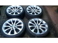 19 BMW 220M MSPORT STYLE ALLOY WHEELS STAGGERED 5 6 7 SERIES E60 E61 ETC
