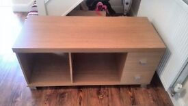TV cabinet beech wood lcd led stand ikea argos lounge table unit