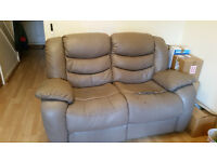 2 Seater Leather Recline free