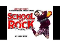 2 x School of Rock the Musical