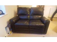 Black 2 seater recliner sofa