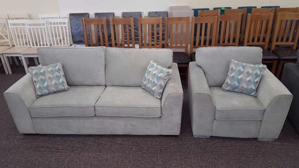 3 Seater Fabric Sofa & Armchair **CAN DELIVER**
