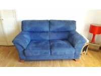 FREE 2 X 2 SEATER SOFAS IN BLUE