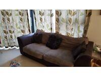 2x Brown argos sofa £15 ono
