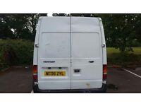 FORD TRANSIT 350 2.4 LWB 90 M WITH A SEMI HIGH ROOF, DIESEL. BULKHEAD AND LINING.