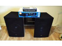 SKYTEC SPEAKERS, CABLES, AMPLIFIER AND MIXER BUNDLE