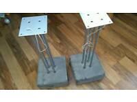 2 pairs of Ikea Jutis concrete speaker stands