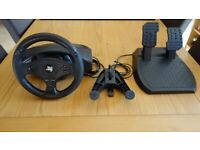THRUSTMASTER T80 FOR PS3 PS4 PS5 PC . STEERING WHEEL AND PEDALS