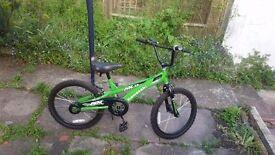 Bmx bicycle kawasaki mx20 GREEN AND BLACK GOOD ONDITION