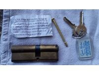2x Euro door lock cylinder (cya7124050pb) with 2 keys each
