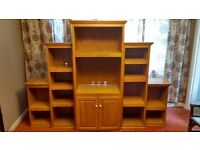 5-piece solid oak entertainment center handcrafted in America