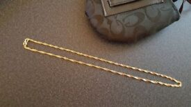 24 carat pure gold necklace