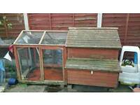 Chicken coop with run and nest box